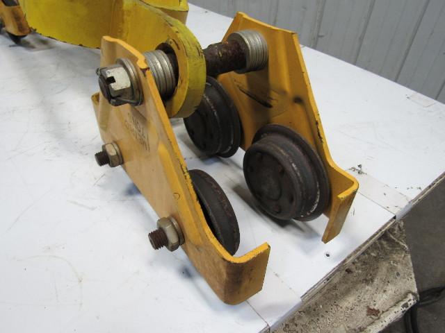 Welding Table For Sale >> Budgit Hoist 509261-1 Bridge Crane Beam Trolley End Truck 1 Ton Cap. Set of 2   Bullseye ...