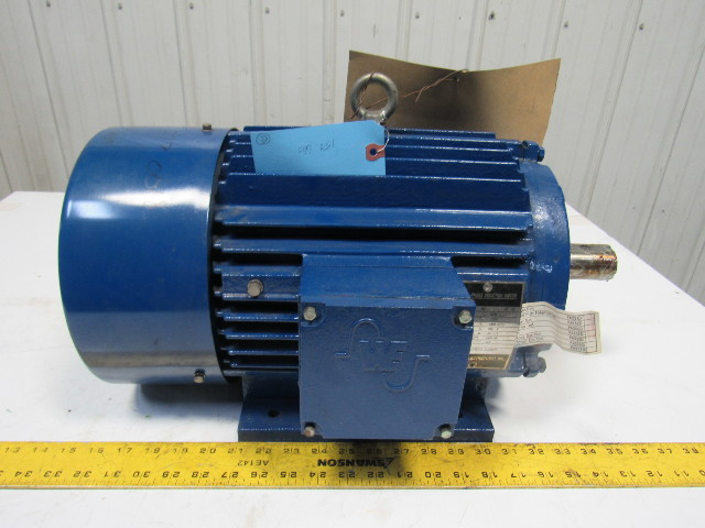 Western electric 5hp 1164rpm 230 460v 1 3 8 shaft 215t for Electric motor shaft repair