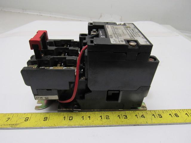 Square D 8536sco3s Size 1 Motor Starter 3 120v Coil
