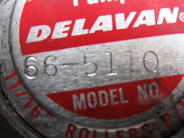 Delavan 66 5110 300psig 1000rpm Roller Pump 3 8 Quot Shaft 3 4