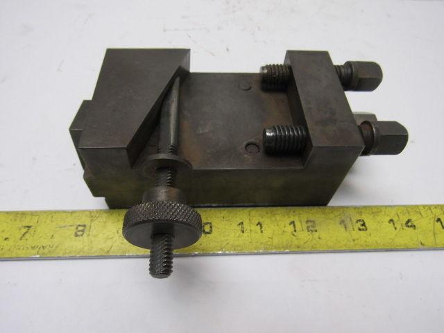 """1-1/2"""" Open Sided Turret Lathe Tool Holder 5/8"""" Keyed Base Missing Wedge"""