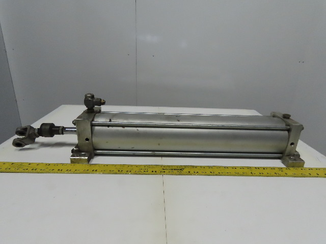 "SMC NCA1S500-2400 Air Pneumatic Cylinder 5"" Bore 24"" Stroke 250 PSI Side Lug"
