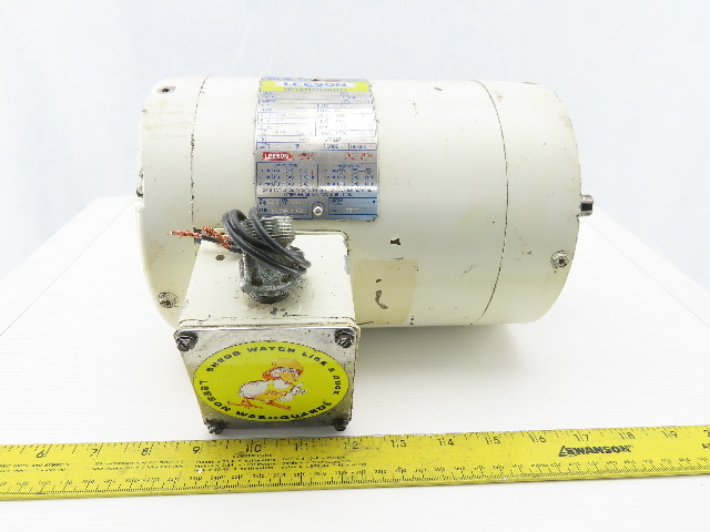 Leeson C6T17VC2G 1Hp 1725RPM 3Ph 208-230/460V F56C Washdown Duty Electric Motor