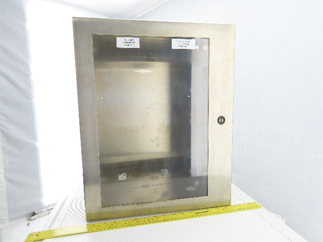 """Hoffman C-SD20166WSS 20x16x6"""" Hinged Stainless Steel Electrical Enc.W/Backplate"""