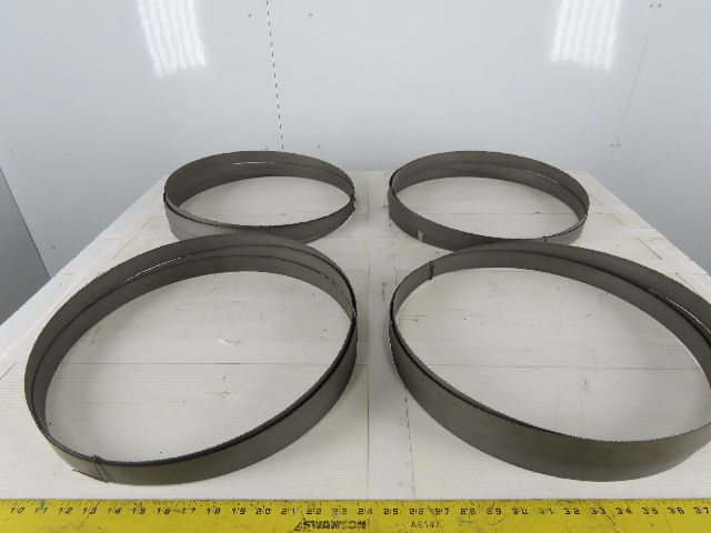 "13'4""x 1-1/4"" x .042"" x 8/12 Bi-Metal Band Saw Blade Lot Of 4"