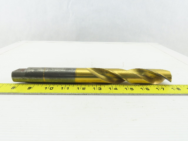 """1-1/8"""", 118° Point, Twist Spiral 2 Flute, HSS, Extra Length Drill Bit 10-1/2"""" OAL"""