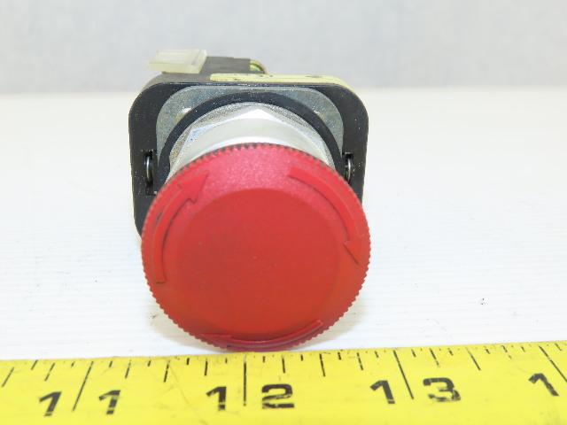 Allen Bradley 800T-FXT6D4 Push/Twist Pull Button E-Stop Emergency Series T Red