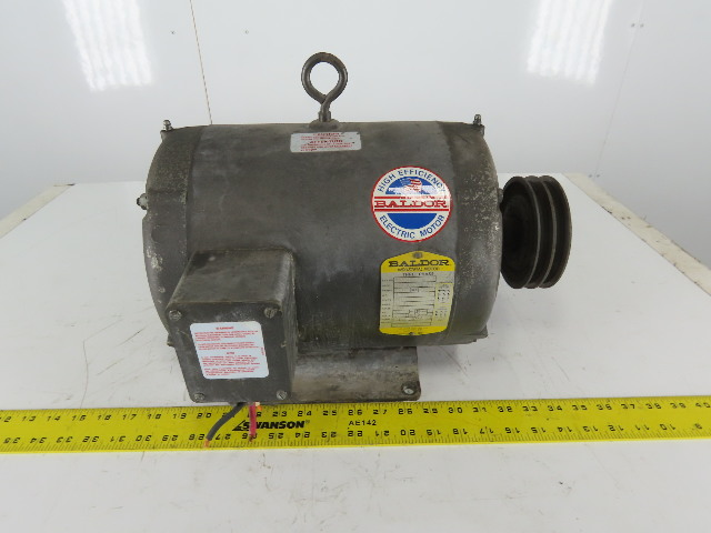 Baldor M3311T 7-1/2Hp 1725RPM 3Ph 208-230/460V 213T Frame Electric AC Motor