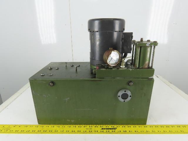 7 Gallon Hydraulic Power Unit 3/4hp .75hp 115/230V 1ph Tuthill 0LBGH Pump