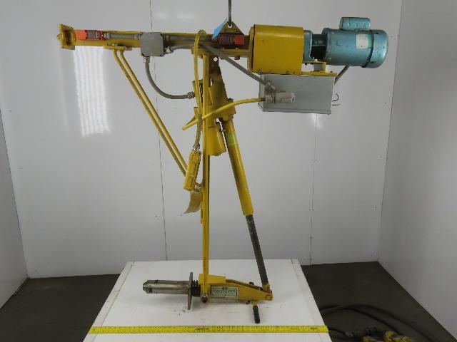 """Tilt-Lock L2-3 115V Tip Lift Roll Coil Handling Hanging Hoist 3"""" Core 2000# MAX"""