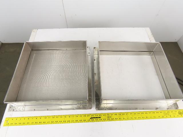 "19"" x 20"" Custom Fab Stainless Steel Mesh Screen Sieve Frames See Info"