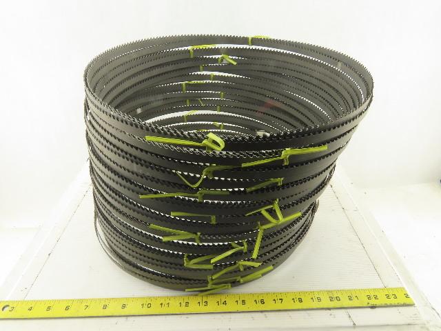 "Starrett Powerband M42 19'5""(233"")x1/2""x.035 4/P Teeth Band Saw Blade Lot of 15"