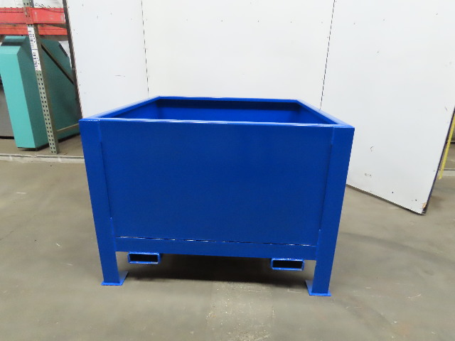 "31 Cu Ft Carbon Steel Bulk Material Bin Gravity Hopper 48"" x 48"" x 23"""