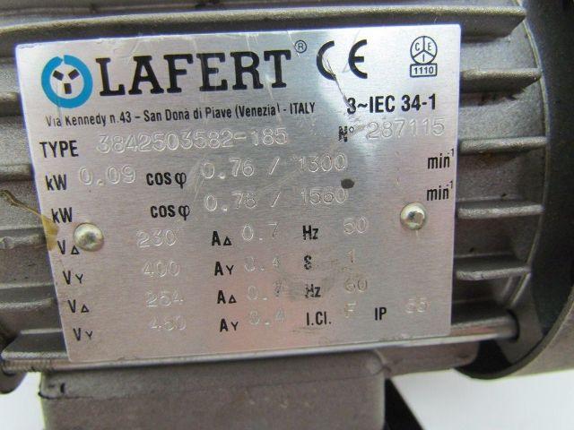 Push To Connect Fittings >> Lafert 3842503582-185 1560 rpm 254/460Volt 3ph Motor IEC 34-1 60034-1 | Bullseye Industrial Sales