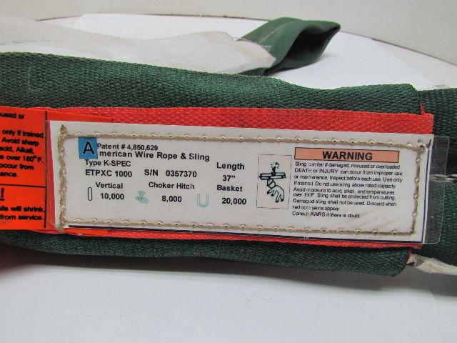 American Wire Rope & Sling ETPXC 1000 Slingmax 37\
