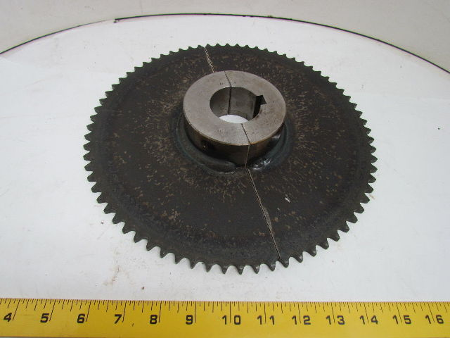 """Push To Connect Fittings >> 40 72H No 40 Roller Chain Split Sprocket 1/2"""" Pitch 72 ..."""