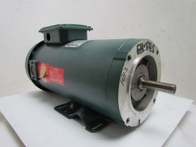 Reliance electric 1 hp 1750rpm 180v 56 frame tefc power for 56 frame motor shaft size