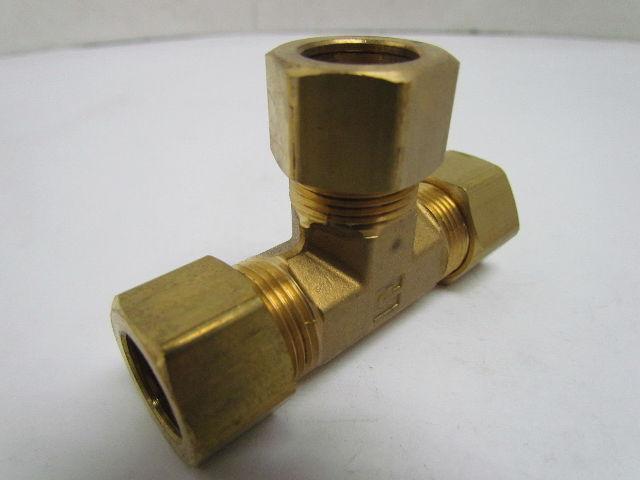 Parker triple lok c quot union tee brass compression