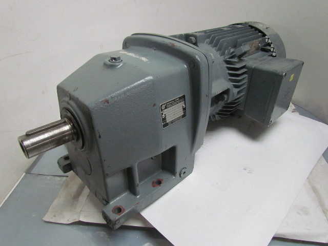 Drive By Wire >> Nord SK 100 L/40 4 HP 3 KW Electric Gear Drive Motor w/Inline Speed Reducer | Bullseye ...