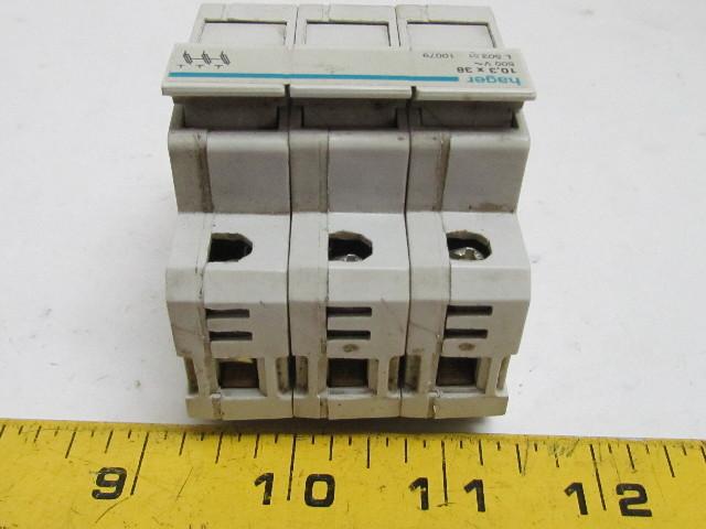 52855 hager l503 fuse carrier holder 3 pole 103x38mm fuse 500v 2 hager l503 fuse carrier holder 3 pole 10 3x38mm fuse 500v hager fuse box cover at metegol.co