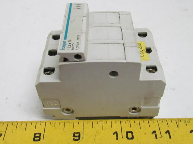 52855 hager l503 fuse carrier holder 3 pole 103x38mm fuse 500v 4 hager l503 fuse carrier holder 3 pole 10 3x38mm fuse 500v hager fuse box cover at metegol.co