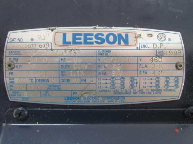 Wiring Diagram Hp Leeson Motor on