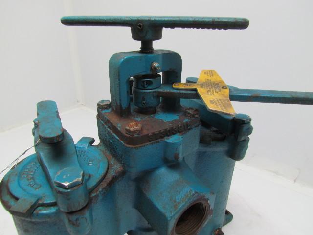 Hayward Eaton No 51 Duplex Strainer Cast Iron 1 1 2