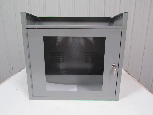 EDSAL CS06625A,GY LCD Counter Top Security Computer Cabinet Gray ...