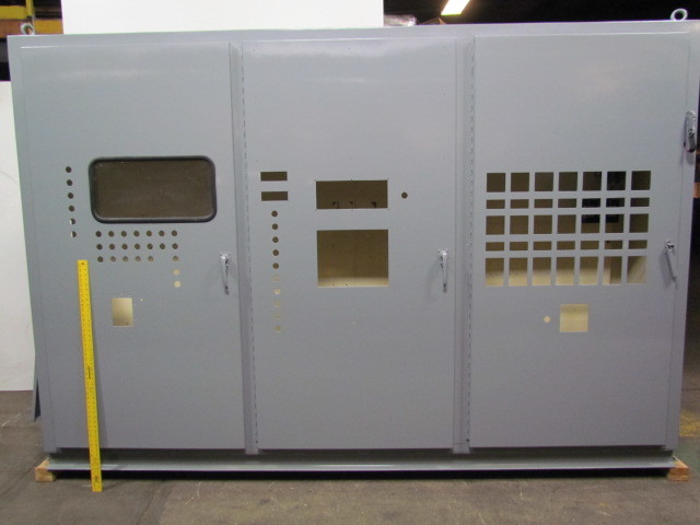 69116 84tx132lx24d 3 door electrical enclosure cabinet box w 100a fused disconnect 84\