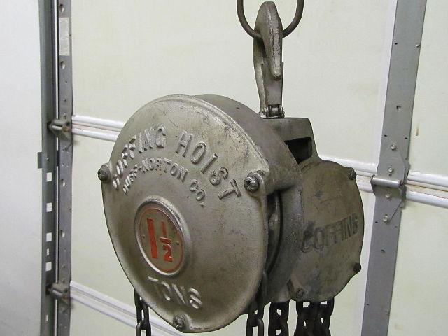 1 1/2 ton coffing cb 40 manual chain hoist 8' of lift 3000 ... coffing 1 2 ton hoist parts diagram
