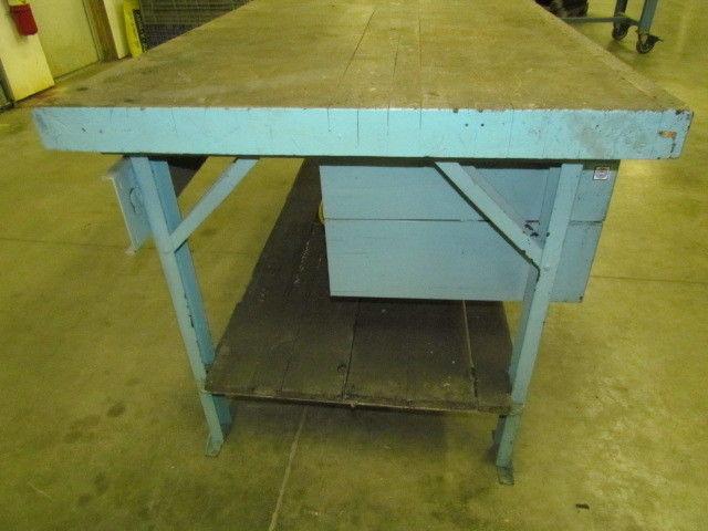 Vintage Industrial Steel Worktable ...