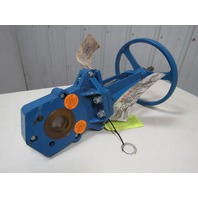 Newcon 2 Quot Knife Gate Valve Hand Wheel Operated 150lb Flat