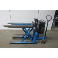 Bishamon LV100E Scissor Lift Pallet Jack Load Positioner 2200LBS 12V Battery