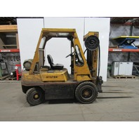Hyster H50H 5000lb Cap Triple Stage Forklift LP Propane Pneumatic Side Shift