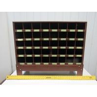 "Lawson 35x21-1/2"" 40 Compartment Maintenance Small Part Storage Unit Stand Metal"