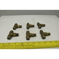 Parker Brass PRESTOLOK Male Branch Tee Swivel 3/8 TUBE X 1/4 NPTF Lot of 6