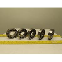 NSK 6307 35mmID 80mmOD 21mmW Open Single Row Ball Bearing Lot of 5