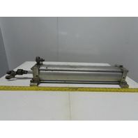 """SMC NCA1S500-2400 Air Pneumatic Cylinder 5"""" Bore 24"""" Stroke 250 PSI Side Lug"""