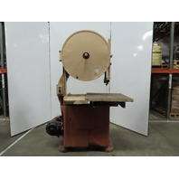 "Jones Superior No.51 30"" Wood Cutting Vertical Band Saw 3HP 460V 3Ph 7065FPM"