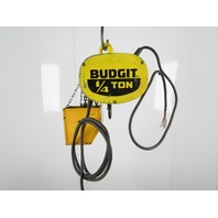 Budgit 11689715 1/4 Ton 500LB Electric Chain Hoist 15' Lift 3Ph 460V 2 Speed