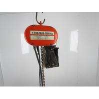 CM Lodestar Model L 1 Ton 2000LB Electric Chain Hoist 16' Lift 16FPM 3PH 460V