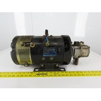 Hitachi Electric Motor 48VDC W/Hydraulic Pump From a CWP02L255 Nissan Forklift
