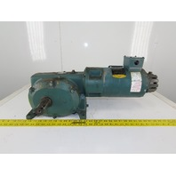Reliance Master XL 65CM21A Gear Motor 288:1 W/Baldor ZDVSNM3542 3/4HP 3ph Motor