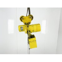 Budgit D-205-3 1 Ton 10' Lift 230V 3Ph Rope Control Electric Chain Hoist Trolley