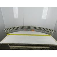 "Roach 12"" W x 10""BF x 45° Gravity Roller Conveyor Curved  9-1/2"" Rolls"