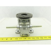 """Albion 5-11/32"""" Mounting Height  Position Floor Lock for 4"""" Diam Caster Wheels"""