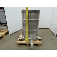 Stainless Steel 55 Gallon Drum Liquid Process Holding Transport Tank On Casters