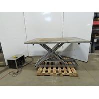"Southworth 1500LB Hydraulic Scissor Lift Table 66""x48"" 115/120V 1Ph Single Phase"