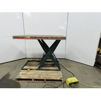 "Southworth 1500LB Hydraulic Scissor Lift Table 30x54"" 115/120V 1Ph Single Phase"