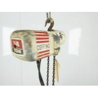 "Coffing 1/4 Ton 16 FPM 12'6""Lift Electric Chain Hoist 115/230V Single Phase 1Ph"